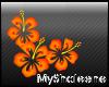 Orange Hibiscum Sticker
