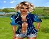 blue top bra