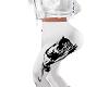 White leather leggins
