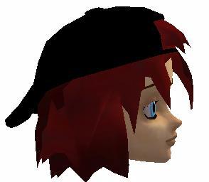 Black Cap w Redish Hair
