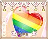 <3 Gay Pride Heart Ring