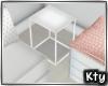 K. White Side Table