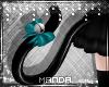 .M. PVC Kitten Tail Teal