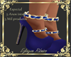 shoes blue lace