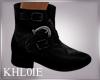 K NY dark black boots