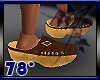 leather wood clogs