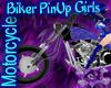 BIker Techno Blue Harley