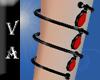 VA Black Red Bracelet L