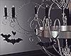 Halloween BW Chandelier