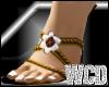 WCD gold flower heels
