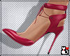 *Girly Heels Cool Red