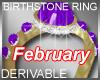 Birthstone Ring February