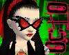 O. Red Bat Glasses