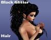 Black Glitter Hair