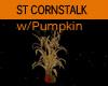 ST Cornstalk w/Pumpkin