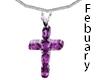 TF* Cross Feb Amethyst