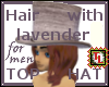 Br Hair w Lav Top Hat