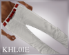 K white red jeans M