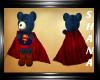 Superman teddy bear + fly fun actions