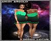 Green Lotus Club Dress