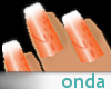 Onda Orange Nails w/ tip