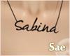 $ |SABINA! necklace