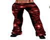RED PVC SKULL PANTS