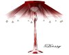 Sheer Red Standing Lamp