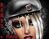 *K Beret Hat w/hair