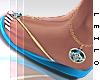 ! L! Stella Blue Sandals