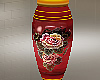 Red Floral Jar Large 2