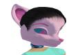 ladies pink fox head