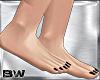 Feet Black Glitter Nails
