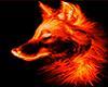 fire wolf sticker