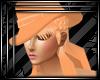 Peachy hat hair