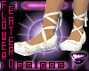 Ballet Slippers- Wht/Gld