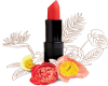 Coral Lipstick & flowers