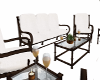 White and Brown Patio