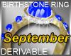 Birthstone Ring Septembe