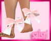Pink White Ankle Bow