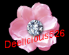 Pink jeweled flower