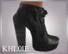 K kaz black leather boot