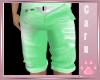 *C* Mint Jean Shorts