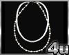 4u Mens Silver Chain Set