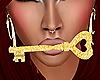 gold heart key /F