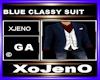 BLUE CLASSY SUIT