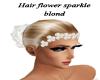 EG hair flower sparkle