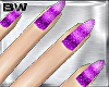 Purple Glitter Nails Fm