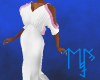 )L( Pink/ White Gown