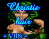 Christie hair green dark